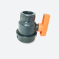 Van cầu rắc co phi 27mm cao cấp Automat hai đầu ren trong nhựa PVC cao cấp tay gạt màu cam chống tia UV được sản xuất từ Ấn Độ