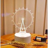 Đèn ngủ 3d ĐU QUAY đèn trang trí quà tặng sinh nhật đèn để ban