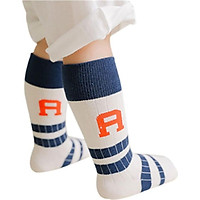 Baby Boys Girls British Wind Striped Letters Children Socks Kids Anti-slip Sports Socks New Cotton Soft Breathable Sock 0-6Y