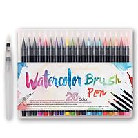 Bộ 20 bút lông màu nước cao cấp BUDECOR Water Color Brush Pen (Tặng 1 cọ Water Brush và Bảng Màu )