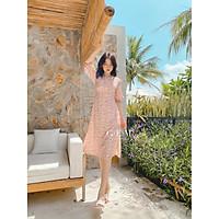 Đầm hồng hoa nhí xẻ tà Mee Dress Gem Clothing SP006166