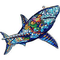 Bộ xếp hình gỗ đồ chơi  ghép hình con vật, bộ xếp hình trí tuệ, quà tặng bạn bè - Cá Mập