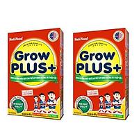 BỘ 2 HỘP SỮA NUTIFOOD GROW PLUS ĐỎ DÀNH CHO TRẺ BỊ SUY DINH DƯỠNG THẤP CÒI - HỘP GIẤY 400G
