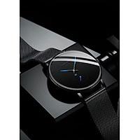 Đồng hồ nam DIZIZID mẫu MỚI thiết kế đẹp mắt kim phối xanh dây thép mành đen ZIDKX19
