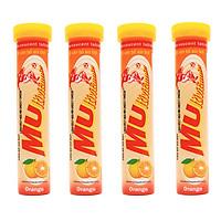 COMBO 4 tuýp sủi MUltivitamin vị cam bổ sung Vitamin C, giúp tăng cường sức đề kháng