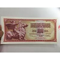 TIền 10 Dinara của Nam Tư ở châu Âu có hình con Ngựa thích hợp làm quà tặng phong thủy , tặng phơi nylon bảo quản tiền