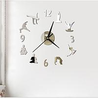 Đồng hồ 3D cao cấp tự dán tường Yoga DH91