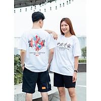 Áo phông đôi nam nữ bacsic in hình