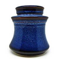 Hộp trà váy  Đông Gia-màu men hỏa biến  tự nhiên Xanh sóng biển 8094 Waist tea box