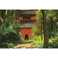Poster A4 dán tường Anime, decal 21x30 trang trí có keo Spirited Away Wallpapers (4).jpg