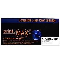 Hộp mực in Laser màu Đen PrintMAX dành cho máy HP CE310A ( BK ) - Canon 7018– Hàng Chính Hãng