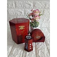 Bộ ba món tiện ích hộp trà lớn,lót ly khảm,hộp tăm - 3MLL