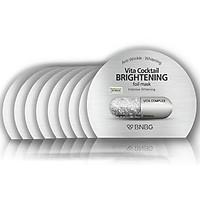 Combo 10 Mặt nạ dưỡng sáng da và làm mờ vết thâm BNBG Vita Cocktail Brightening Foil Mask - Intensive Brightening 30ml x 10