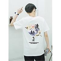 Áo thun hoa văn cổ trang Trung Quốc phong cách Unisex nam nữ