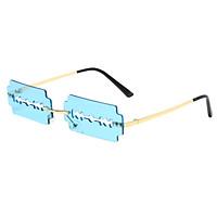 Razor Blade Shaped Sunglasses Rectangular for Shopping Party