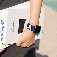 Dây Đeo Dành Cho Apple Watch bằng silicon - Rabbit & Hola Bear