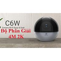 camera IP Wifi Ezviz C6W Siêu Nét 4Mp Độ Phân Giải 2K Xoay Quét 360 Độ Kèm Thẻ 64G-Hàng Chính Hãng