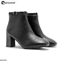 Boots nữ, 7cm, mũi vuông, quai cổ BOOTS25