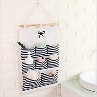 Túi đựng đồ 8 ngăn treo tường tiết kiệm diện tích, túi vải canvas bền đẹp đa năng tiện lợi - giao màu ngẫu nhiên
