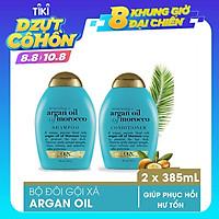 Bộ 2 Dầu gội đầu và dầu xả OGX Renewing Argan oil of Morocco 385ml