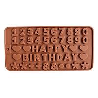 Khuôn rau câu Silicon Happy Birthday