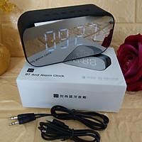 Loa gương Bluetooth kiêm đồng hồ có thẻ nhớ và báo thức