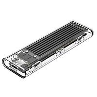 Hộp Đựng Ổ Cứng Di Động SSD TCM2-C3 - 10Gbps Nhựa Trong Suốt - Hàng Chính Hãng