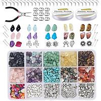1Set Stone Beads DIY Necklace Bracelet Earring Jewelry Making for Women Girls