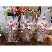 Combo hoa sáp Vip +Túi nhựa sang trọng.