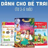 Combo Bộ 3 Cuốn: (Dành Cho Bé Trai Từ 3 -6 Tuổi) Aladdin Và Cây Đèn Thần + Truyện Kể Trước Khi Ngủ - Tự Tin +  Bộ Sách Tự Xóa Thông Minh - Những Từ Tiếng Anh Đầu Tiên
