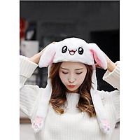 Mũ nón tai thỏ giật Kpop - Màu trắng