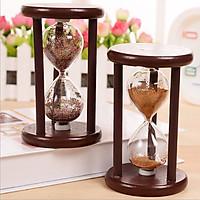 Đồng hồ cát khung gỗ để bàn trang trí