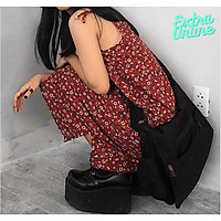 Váy Hai Dây Hoa Nhí Hình Cúc Họa Mi Vintage - Đầm Hai Dây Buộc Nơ Tiểu Thư (FREESIZE cho nữ dưới 60kg)