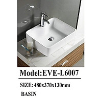 Chậu lavabo đặt bàn EVEREST EVE-L6007