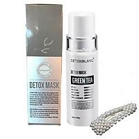 Mặt Nạ Thải Độc Trắng Da Ngừa Mụn Nám Detox BlanC: Detox Mask (mẫu mới) + Tặng kèm Kẹp tóc Ngọc Trai