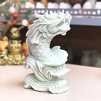 Cá Chép Hóa Rồng đá tự nhiên trắng xanh(Cặp) - Roxi