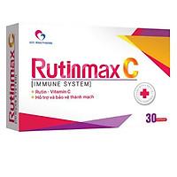 Thực phẩm hỗ trợ và  bảo vệ thành mạch RUTINMAX C - Hộp 30 viên
