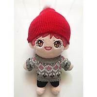 Doll bts jin doll đồ len tóc hồng