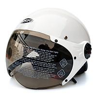 Nón bảo hiểm nửa đầu có kính Sunda 136A mẫu mới