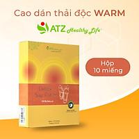 Cao Dán Thải Độc - ATZ Healthy Life - Warm - Làm Ấm Và Tăng Năng Lượng, Giảm Các Chứng Đau Nhức Cơ Khớp