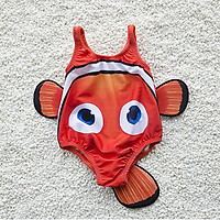 9i9 long love long children's one-piece swimsuit baby swimsuit play water styling hooded small fish 1900259 pink L