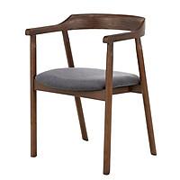 Ghế bàn ăn Nofu 737 gỗ tần bì bọc vải polyester R55xS52xC75cm