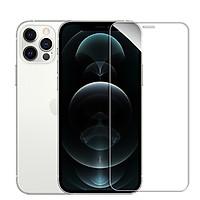 Miếng dán kính cường lực cho iPhone 12 Pro Max (6.7 inch) hiệu ANANK Nhật Bản Độ cứng 9H, Vát cạnh 2.5D, hạn chế bám vân tay, màn hình hiển thị Full HD - Hàng nhập khẩu