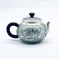 Ấm bạc pha trà 12 con giáp