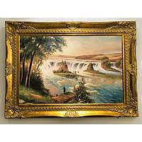 Tranh sơn dầu phong cảnh núi non hùng vĩ mang phong cách tân cổ điển - Tranh kiệt tác nghệ thuật mang không gian nhà bạn thêm xứng tầm đẳng cấp.