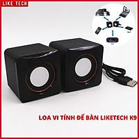 Loa máy tính mini để bàn Like Tech k9 Pro nghe nhạc cực hay kết nối laptop, macbook, mp3,điện thoại