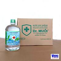 1 Thùng 9 chai Nước súc miệng Dr. Muối hương vỏ chanh 1000ml