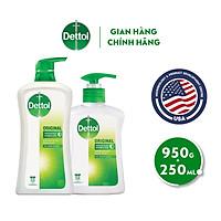 Bộ 1 chai sữa tắm kháng khuẩn Dettol 950G/Chai và 1 nước rửa tay diệt khuẩn Dettol 250G/Chai