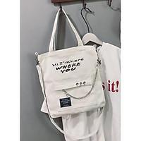 Túi vải tote nữ, túi đeo chéo, túi đeo vai TV015, chất vải canvas siêu bền đẹp, hàng nhập Quảng Châu