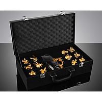Set ly và bình thủy tinh hình rồng 12 cung hoàng đạo (Có hộp da làm quà tặng) - 12 Zodiac Wine Glasses Set